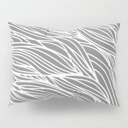 Gray Wave Lines Pillow Sham