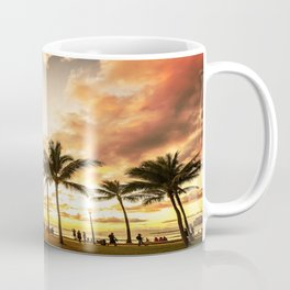 Typical Picturesque Waikiki Beach Sunset Coffee Mug