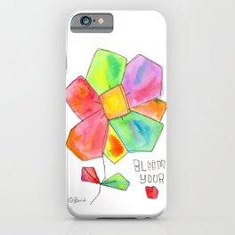 """Bloom Your LOVE"" Original Watercolor Flowers pattern iPhone Case"