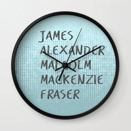 James Alexander Malcom Mackenzie Frazer Wall Clock
