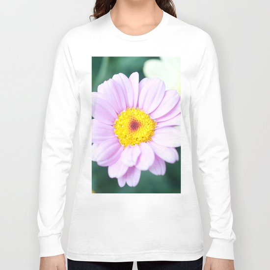 Soft Pink Marguerite Daisy Flower #1 #decor #art #society6 Long Sleeve T-shirt