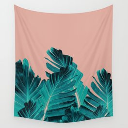 Turquoise Banana Leaves Dream #1 #tropical #decor #art #society6 Wall Tapestry
