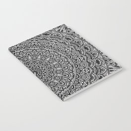 Zen Black and white Mandala Notebook