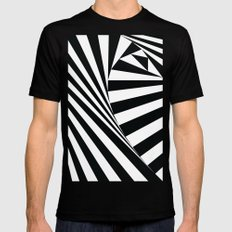 Twiangle BW Black Mens Fitted Tee MEDIUM