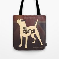 snatch Tote Bags featuring The Snatch - Stealin' Stones & Breakin' Bones by Thecansone