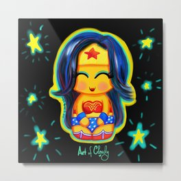 Kawaii Wonder Kokeshi Metal Print
