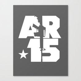 AR-15 (Gunmetal/White) Canvas Print
