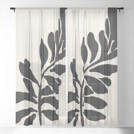 Single stem - night Sheer Curtain