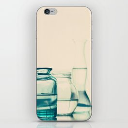 Crystal jars and bottles (Retro and Vintage Still Life Photography) iPhone Skin