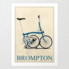 Brompton Bike Art Print