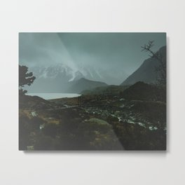 Hiking Around the Mountains & Valleys of New Zealand Metal Print