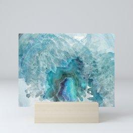 Blue Aqua Agate Mini Art Print