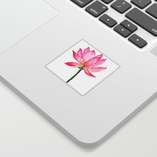Pink Lotus Flower Sticker By Colorandcolor Society6