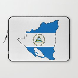 Nicaragua Map with Nicaraguan Flag Laptop Sleeve