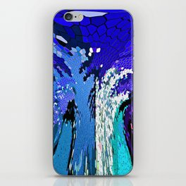 TREE ABSTRACT BLUE COBALT iPhone Skin