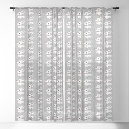 Puppy Spook Sheer Curtain