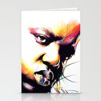 notorious big Stationery Cards featuring The Notorious BIG by NEKVI