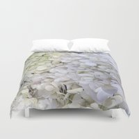 hydrangea Duvet Covers featuring Hydrangea by Awesome Palette