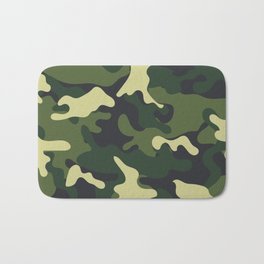 Army Green Camouflage Camo Pattern Bath Mat