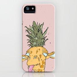 Pineapple giraffe iPhone Case