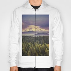 Mountains and Forest - Blue Mt. Hood Mountain Hoody