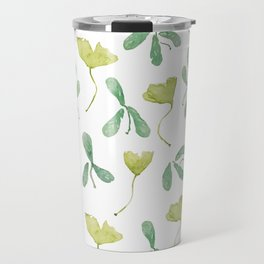"""Watercolor Painting of Picture """"Green Leaves"""" Travel Mug"""