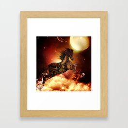 Steampunk, awesome steampunk horse Framed Art Print