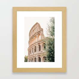 Morning at the Colosseum Framed Art Print
