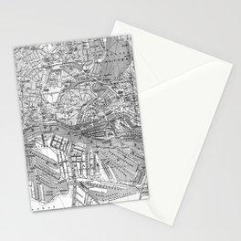 Vintage Map of Hamburg Germany (1910) 2 BW Stationery Cards