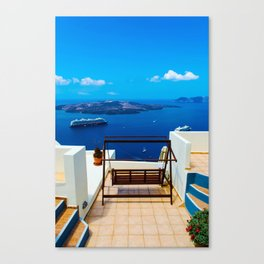 Volcano View,Santorini Canvas Print