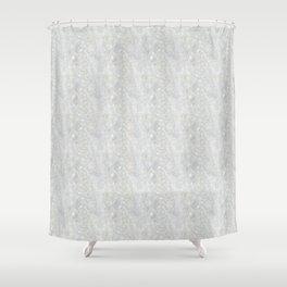 White Apophyllite Close-Up Crystal Shower Curtain