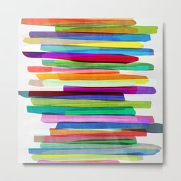 Colorful Stripes 1 Metal Print