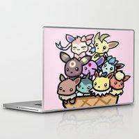 eevee Laptop & iPad Skins featuring Eevee Ice Cream by Mayying