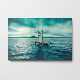 Whale spotting Iceland Metal Print