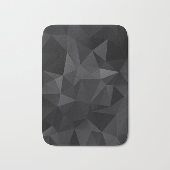 Abstract of triangles polygo in black colors Bath Mat