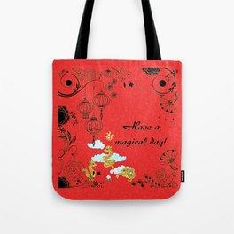 Chinese Dragon Trio Tote Bag
