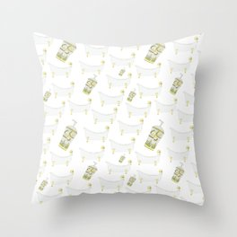 Stay clean Throw Pillow