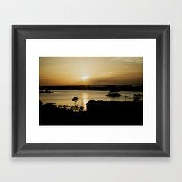 coastal sun Framed Art Print