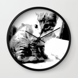 Innocent Kitten Wall Clock