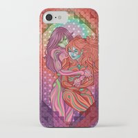 evangelion iPhone & iPod Cases featuring Evangelion - Mari and Asuka  by Morgane Grosdidier de Matons