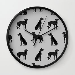 Great Dane black coat valentines day dog breed dog must haves Wall Clock