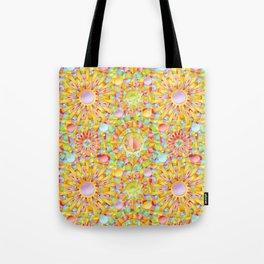 Circus Rainbow Mandala Tote Bag