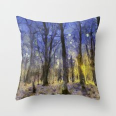 The Forest Van Gogh Throw Pillow