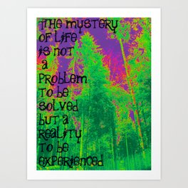 Mystery of Life Art Print