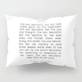 Beauty F. Scott Fizgerald Pillow Sham