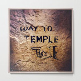 Way to Temple, 2015 Metal Print