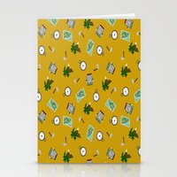 hiking Stationery Cards featuring Hiking Pattern by DAW Surface Design