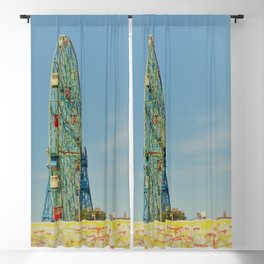 Colorful Coney Island Blackout Curtain