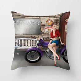 Rockabilly Throw Pillow