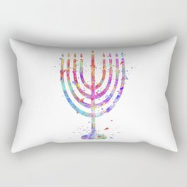 Menorah Rectangular Pillow
